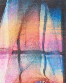 Elizabeth Guzman, View of Sky through Curtain, 2012