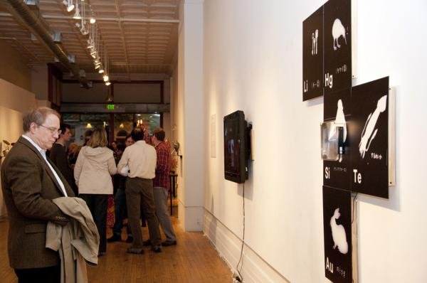 installation view of Chemtrail by Kevin Jones, photo by Kathleen Jones